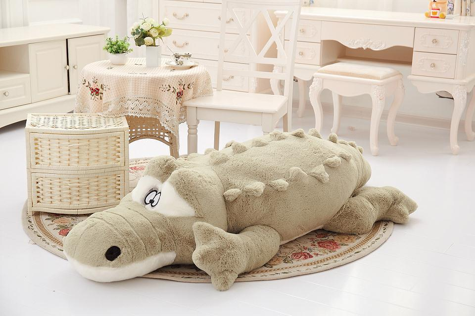 big plush crocodile toy stuffed cartoon green crocodile doll gift about 110cm the huge lovely hippo toy plush doll cartoon hippo doll gift toy about 160cm pink
