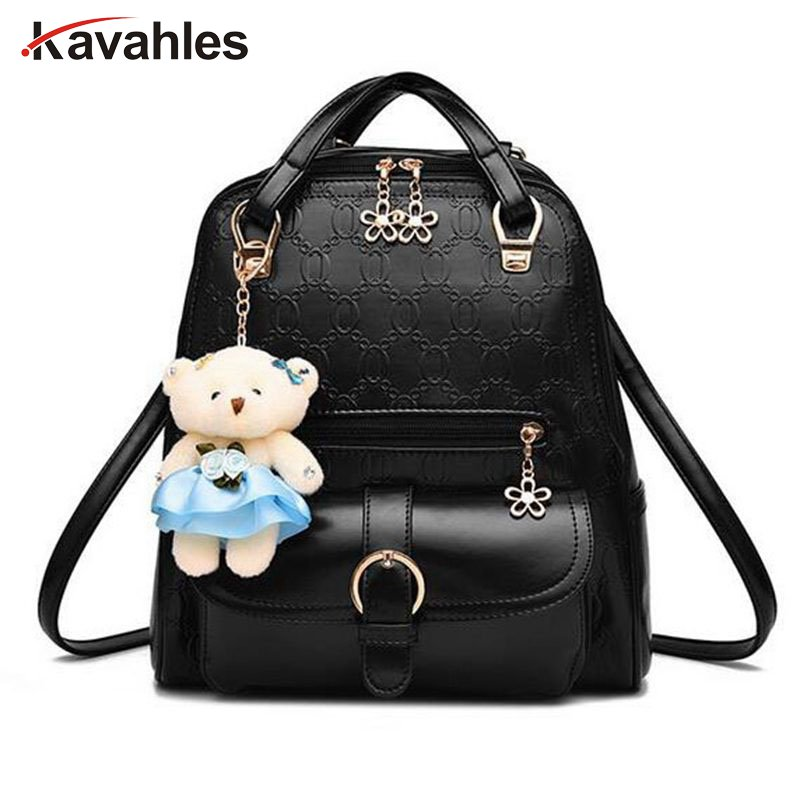 Fashion Women Backpack High Quality PU Leather Backpacks for Teenage Girls Female School Shoulder Bag Bagpack