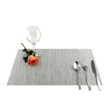 4pcs/lot Solid Color Weaved Dining Table Mats Rectangle Placemat Plate Bowl Cup Pad Coasters Hotel Tableware Mat Simple Style