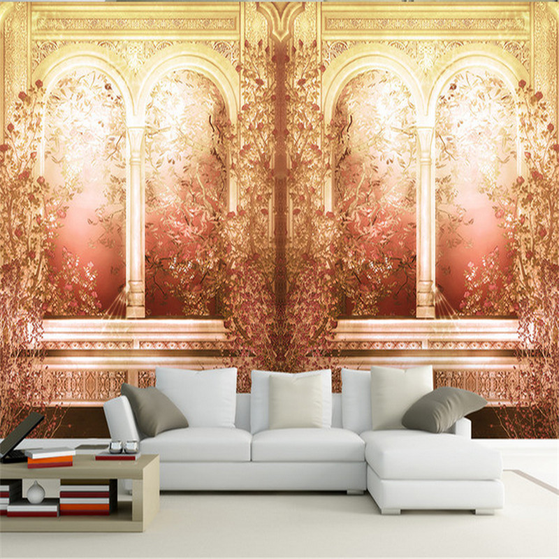 custom modern 3d photo European garden Roman column mural wallpaper 3d tv sofa background wall home decor for living room roman column elk large mural wallpaper living room bedroom wallpaper painting tv background wall 3d wallpaper for walls 3d