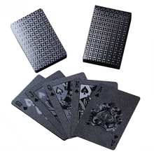 Plastic Black Poker Deck