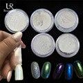 5 unids Rojo/Azul/Verde/Púrpura/Oro Láser Efecto de Brillo Del Arte Del Polvo del Polvo Mágico de La Sirena Glitter Decoración + 10 unids Cepillos ND262x5
