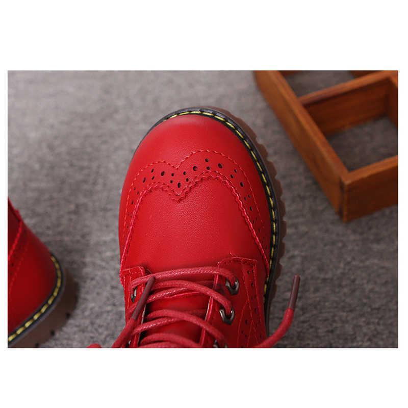 MHYONS 2018 หญิง Martin BOOTS รองเท้าสำหรับสาวเด็กอบอุ่นรองเท้าแฟชั่นนุ่มด้านล่างหญิงรองเท้าลื่นเด็กรองเท้าผ้าใบ