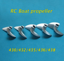Free Shipping 4mm RC Boat Metal Screw CNC Aluminum Propeller 430/432/435/436/438 Spare Parts For Racing Boat