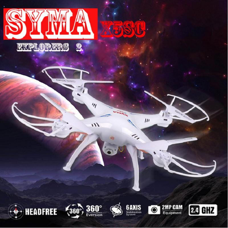 Syma X5SC FPV Wifi HD Video Camera 2MP Aerial Drone RC Drone RC Airplane Quadcopter Remote Control Toys Kids Birthday Gift syma x8w rc drone wifi fpv camera hd video remote control led quadcopter toy helicoptero air plane aircraft children kid gift