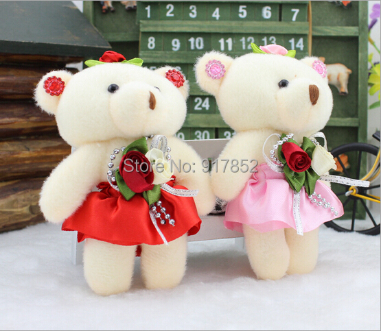 1 micro plush bear dolls soft toys bouquets wedding decoration stuffed mini bears jointed teddy 13cm - Mark's grocery store