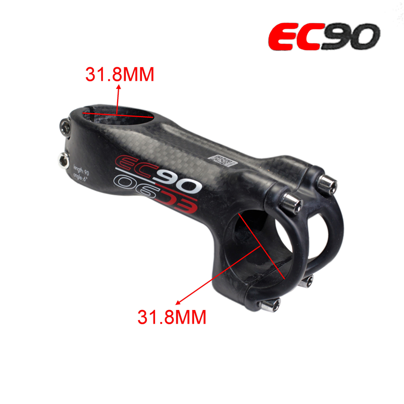 Full Carbon Fibre Bike Stem Ec90 Carbon Fiber Mountain Road Bike Bicycle Stem Cycling Handlebar Riser Bike Parts 31.8 -31.8mm цены