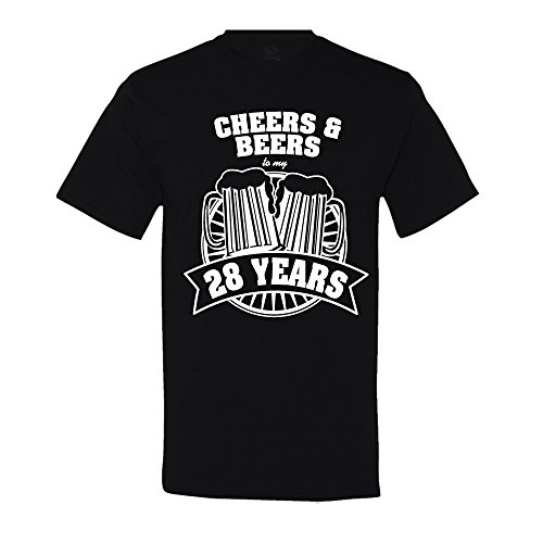2017 Summer Style Cheers And Beers To My 28 Years T-Shirt 28th Birthday Gift Free shipping