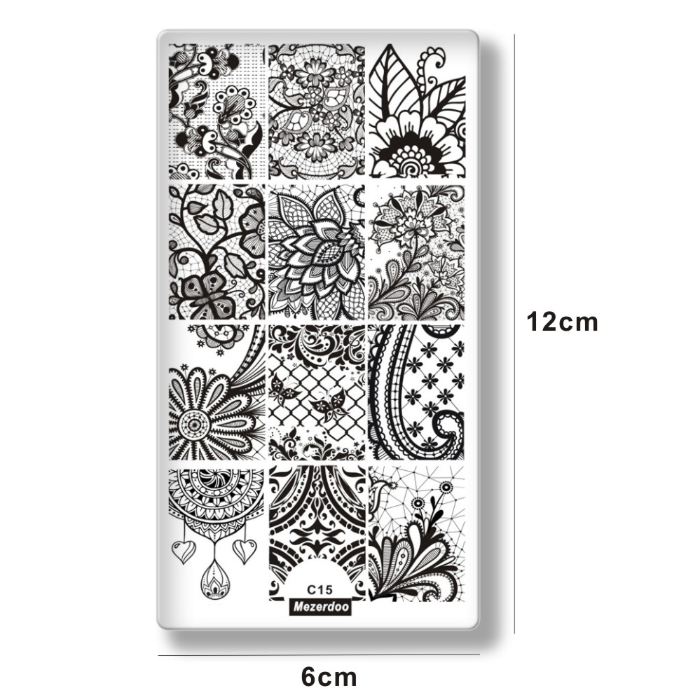 Aliexpress.com : Buy Nail Stamping Plates Lace Flower Nail Art Stamp ...