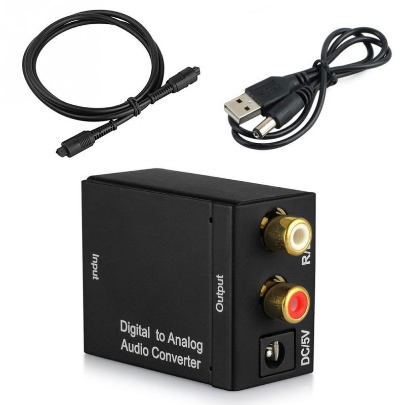 High Quality Digital to Analogue Audio Converter Adapter Coaxial Coax Optical Toslink RCA L/R best price digital optical fiber coax coaxial toslink to signal converter adapter audio transverter rca l r with usb cable