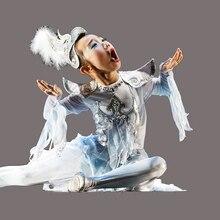 Новые детские костюмы с крыльями орла, Женская Одежда для танцев с белыми крыльями птицы