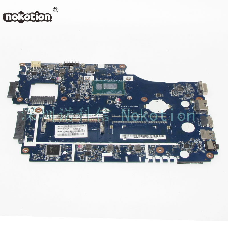 NOKOTION Laptop Motherboard For Acer Aspire E1 Series E1-532 Main Board NBMFM1100J NB.MFM11.00J V5WE2 LA-9532P 2957U 1.4GHZ цены онлайн