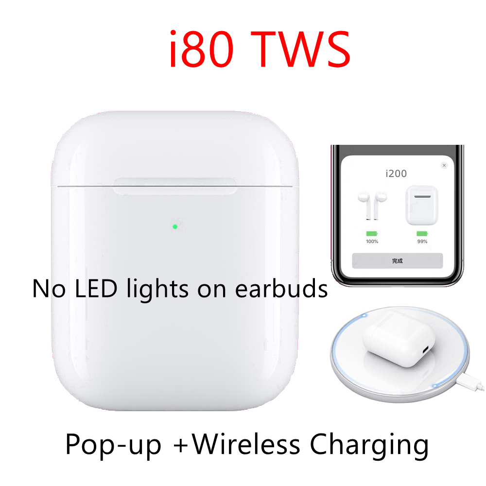 i80 tws Original Bluetooth Earphones Wireless Pop Up Hifi Stereo Bluetooth Earbuds tws i80 <font><b>i80tws</b></font> PK 1:1 Replica i60 tws i30 i12 image