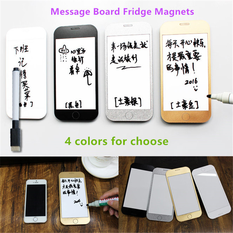 Free shipping <font><b>Cell</b></font> <font><b>phone</b></font> like write <font><b>erase</b></font> message board Fridge Magnet home kitchen office decoration Couples Lover modern gifts