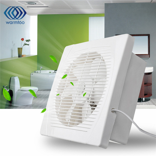 30W 8inch Kitchen Bathroom Toilet Ceiling Wall Mount Ventilation Exhaust Fan  Air Vent 220V White Fan