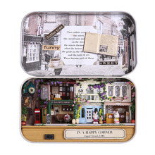 12-15 Year Old DIY Girl's Fairy 1:12 Miniatura Dollhouse Iron Model Kits Box Toy House Secret Box Birthday Gifts BOX THEATER