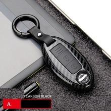 Чехол из углеродного волокна для автомобильного ключа для Nissan Qashqai J10 J11 X-Trail t31 t32 kicks Tiida Pathfinder Murano Note Juke