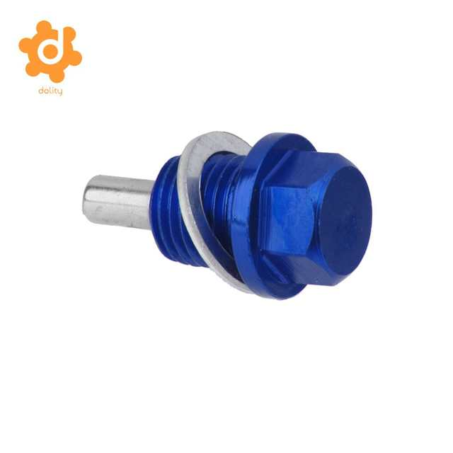 US $4 69 20% OFF 2 Pieces M14X1 5 Magnetic Engine Oil Pan/Transmission  Drain Plug Blue & Red-in Cigarette Lighter from Automobiles & Motorcycles  on