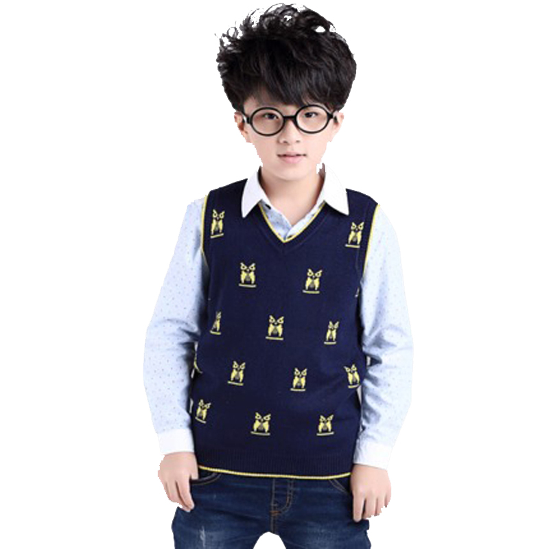 Free shipping Child vest male child autumn and winter waistcoat yarn vest small child sweater baby sweater vest