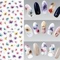 1 Лист Красивые Китайские Чернила Цветок Nail Art Water Переводные Картинки Перевода Стикер