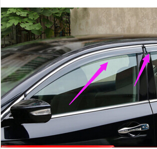 Car Door Window visor Wind Rain Sun Guards Visor Vent Trims for sylphy 2012  2013 2014 2015-in Chromium Styling from Automobiles   Motorcycles on ... 34104d0b256