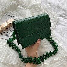 יוקרה חדש קטן חבילה מרובעת אופנה שליח תיק תיק נשי דפוס תנין כתף טלפון חבילה גבירותיי Tote תיק
