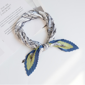 Fashion scarf women silk scarf Rhombus Imitate Silk Scarf Cravate Scarves fresh Head Neck Hair Tie Band Multi-Use Neckerchief 1