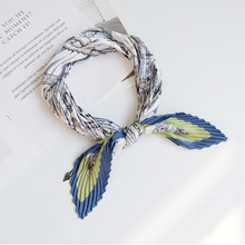 Fashion scarf women silk Rhombus Imitate Silk Scarf Cravate Scarves fresh Head Neck Hair Tie Band Multi-Use Neckerchief