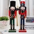 2 pçs/lote tradicional de madeira Nutctracker soldado modelo boneca brinquedos da moda para loja de decoração