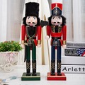 2pcs/lot traditional wooden Nutctracker soldier model doll toys fashion for shop decoration