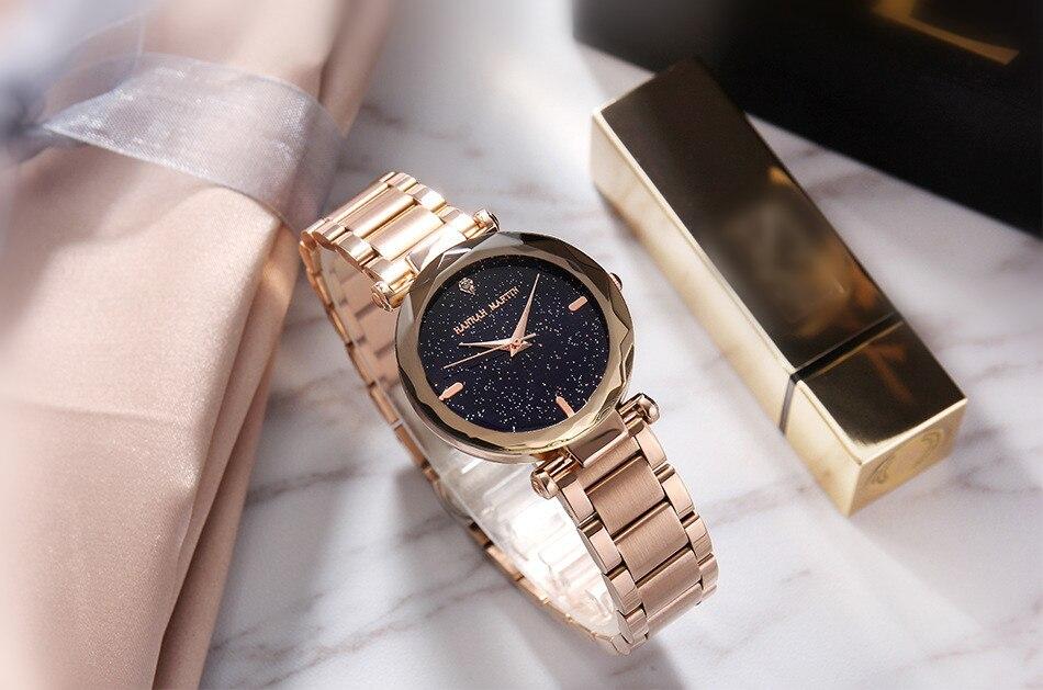 HANNAH MARTIN Luxo Senhoras Relógio Pulseira de