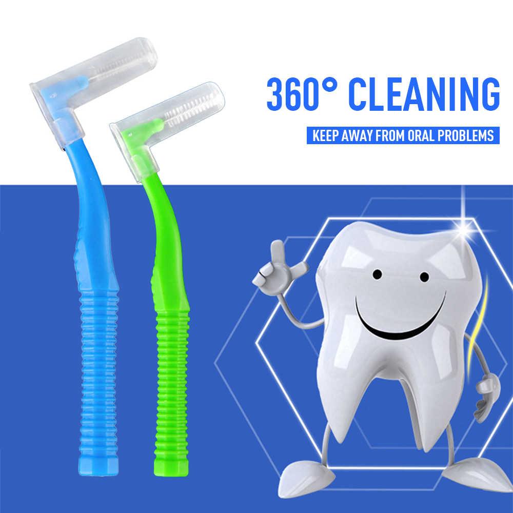 20 sztuk/pudło międzyzębowe Slim pędzle do Dentales wykałaczka zębów Flossing głowy miękkie Oral higieny jamy ustnej szczotka do jamy ustnej szczotka do zębów