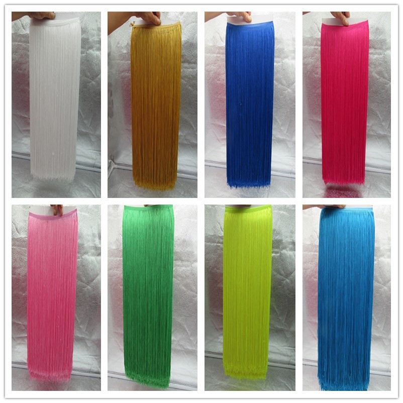YY-tesco 1Yards 100cm Wide Lace Fringe Trim Tassel Fringe Trimming For DIY Latin Dress Stage Clothes Accessories Lace Ribbon