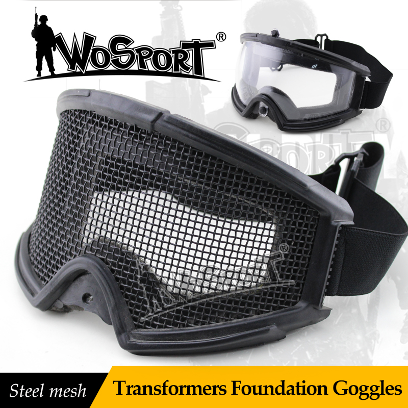 WOSPORT Tactical Transformers Foundation Goggles Military Army CS Field Equipment Steel Mesh Men's Tactical Eyeshield Goggle