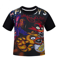 Five Nights at Freddy's clothing children cartoon t-shirts cartoon boy and girl cotton t shirts