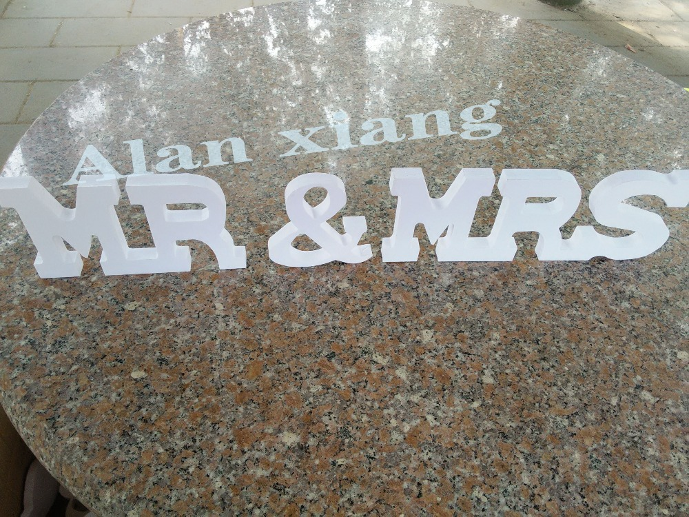 Free shipping Wooden letters Mr and Mrs sign for wedding Custom Made and Painted.