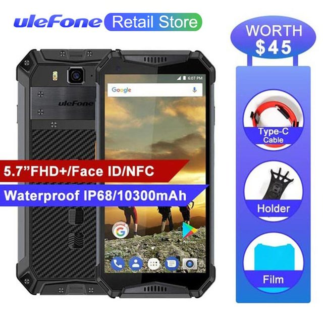 low priced 0f665 01d62 US $249.74 26% OFF|Ulefone Armor 3 IP68 Waterproof Mobile Phones 10300Mah  Android 8.1 5.7