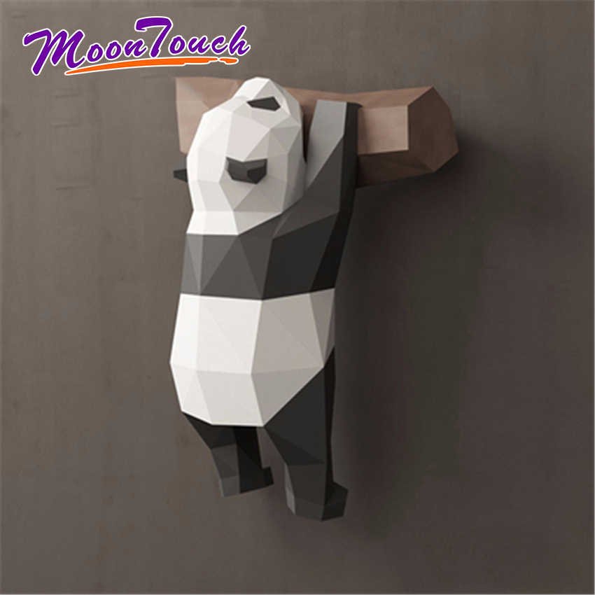 3D Geometric Panda Decoration Wall Creative Cute Funny National Treasure Paper Model Handmade DIY Creative Home Cartoon