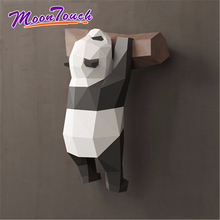 3D Geometric Panda Decoration Wall Creative Cute Funny National Treasure Paper Model Handmade DIY Home Cartoon