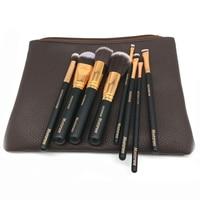 Brand Makeup Mostarsea Brushes Set 8pcs Set Pro Soft Fiber Complete Blending Wooded Handle With Leather