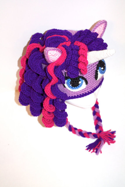 25a1e343889b8 Tejido a mano de ganchillo bebé niña niño adulto caballo unicornio sombrero