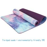 Suede Natural TPE Yoga Mats Non Slip Exercise Mats 5MM Thick Beginner Environmental Comfort Foam Fitness Gymnastics Pads