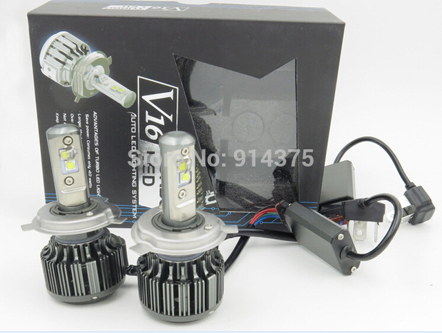 Een paar V16 Turbo LED 9005 HB3 30 W 3000LM auto koplamp auto ...