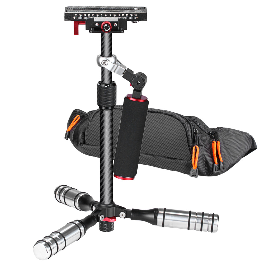 Neewer 15.4 inches/39cm Carbon Fiber Handheld Stabilizer for Canon/Nikon/SonyA7/A7S/A7SII/A7R/A7RII/A7II/A6000/A6300