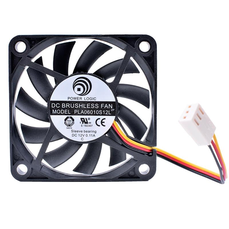 Купить с кэшбэком COOLING REVOLUTION PLA06010S12L 6cm 6010 60mm fan 12V 0.11A 3pin ball bearing computer CPU cooling fan