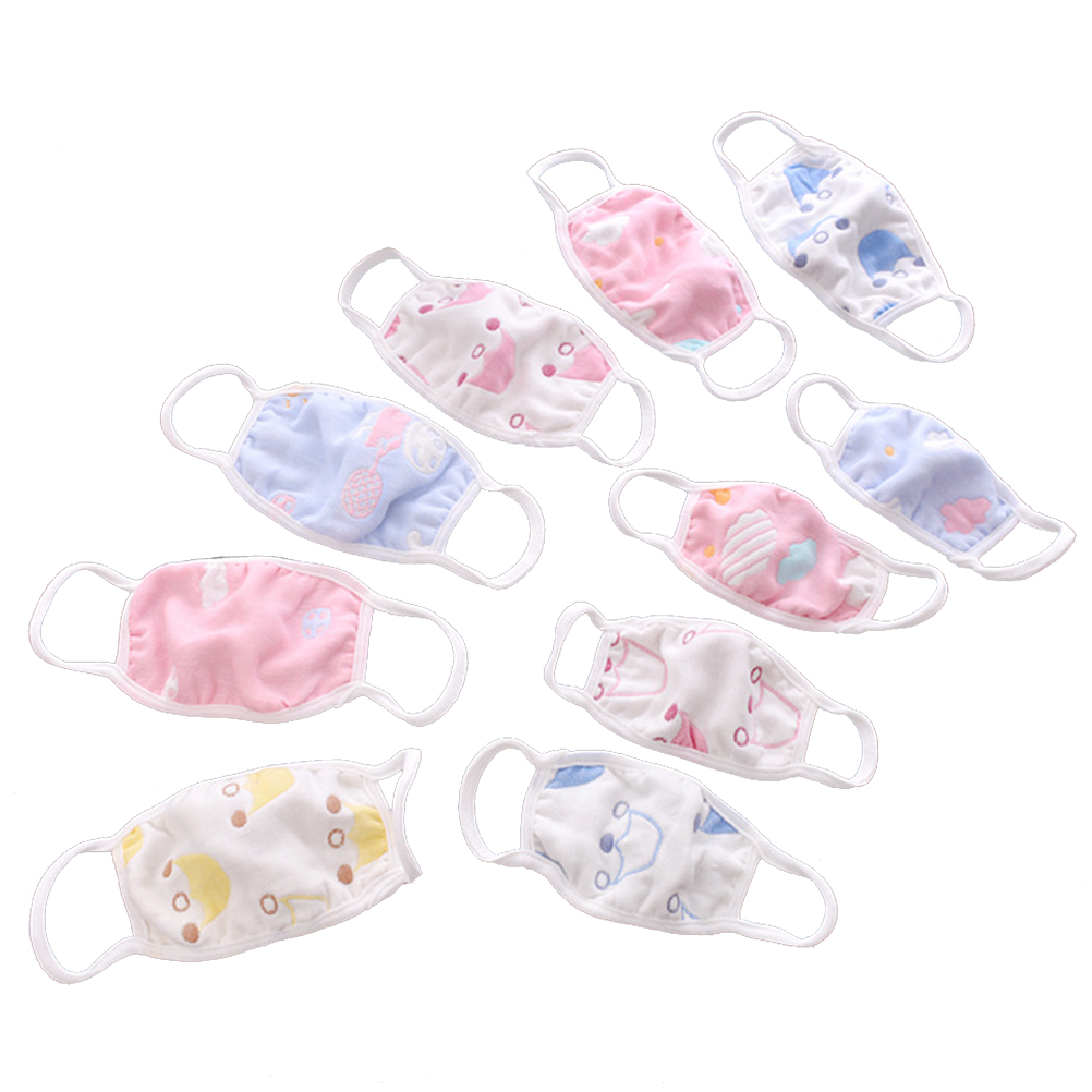 3pcs Kids Antidust Mouth Cover Cotten Mouth Mask Dustproof Face Mask Against Dust Mask For Newborn Babies (Random)