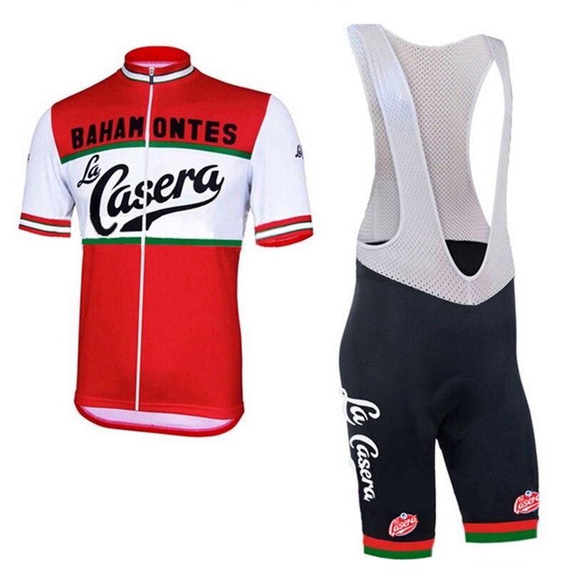 Crossrider Rétro D'été Hommes de Pro Cycling Jersey VTT Vêtements Équipe Court bib Set Ropa Ciclismo Vélo Porter Des Vêtements Maillot culotte