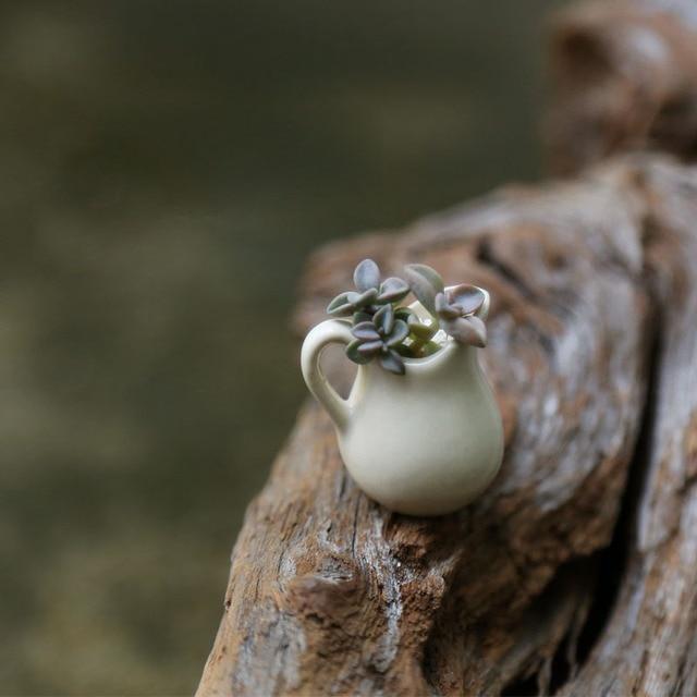 Vase Mini Pot De Fleur Miniature Fée Jardin Décoration Des Maisons  Du0027artisanat Micro Aménagement