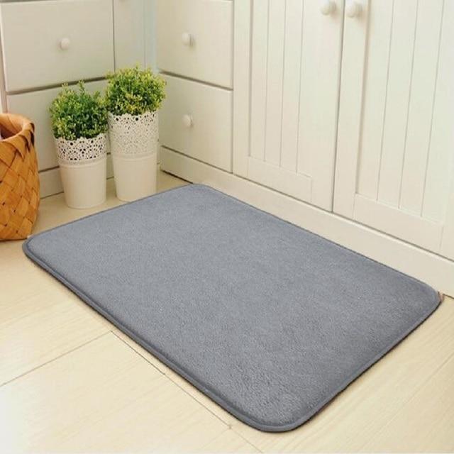 Simples e moderno tapete de entrada da porta do assoalho tapete da porta quarto foyer absorvente tapete do banheiro cozinha