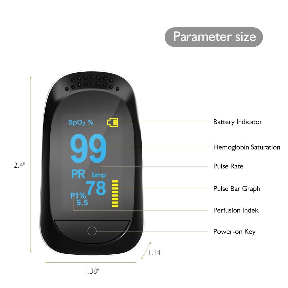 New Hot Digital Finger Pulse Oximeter WITH CASE Blood Oxygen